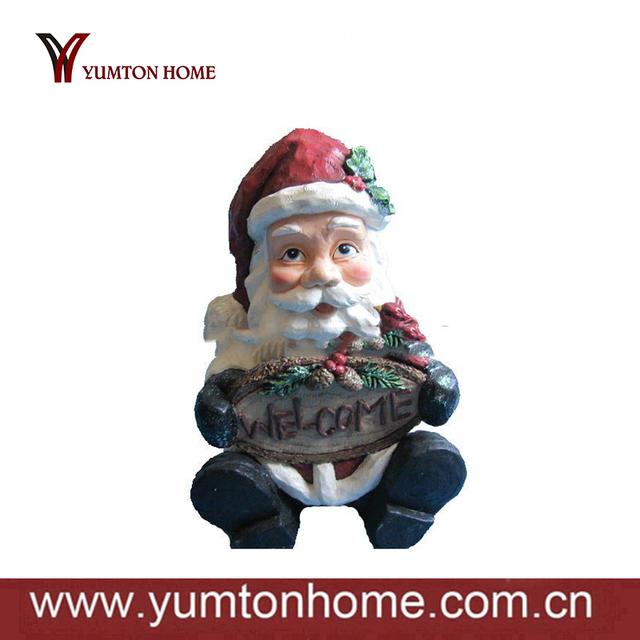 holiday decor Father Christmas polyresin figurines