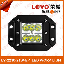 3 inch for atv led work truck light, 18w led Flush mount light, 3x3 12v flush mount led truck light for 4x4 off-road ATV