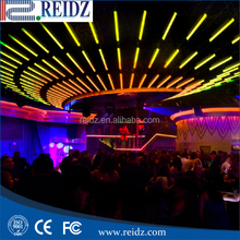 Madrix compatible dmx 3d tube 3d kinetic ceiling lights,8pixels dmx 3d tube for club, dj bar