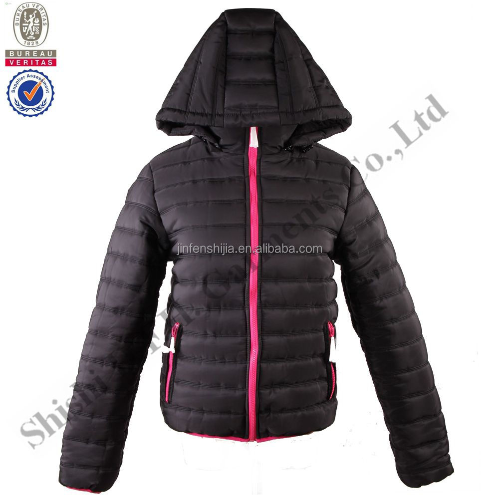 Newest girl's or ladies overcoat designs quilted jacket