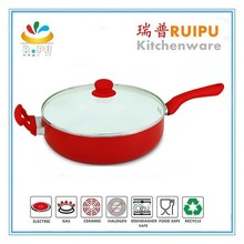 2015 high quality microwave nonstick cookware 30cm deep frying pan/induction bottom fry pan