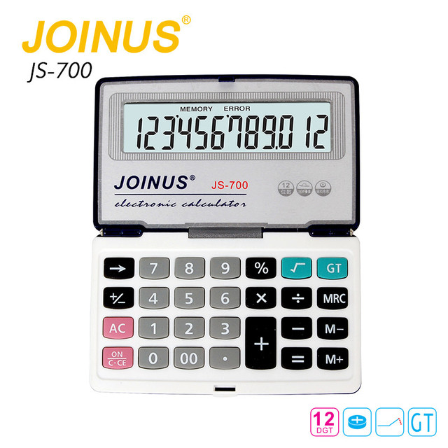 Factory Price JOINUS Office 12 Digits Colorful Calculator