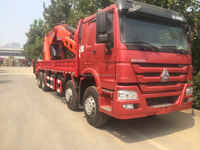 12T tractor lift truck/truck with crane SINO HOWO 6x4,low price truck crane,truck with crane