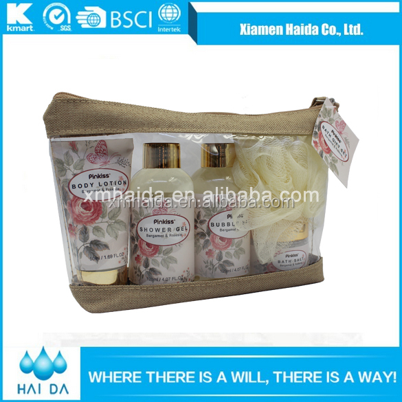 Promotional personalized travel size toiletry set