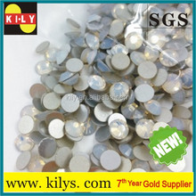 New design white opal color SS12 non hot fix rhinestone for clothing