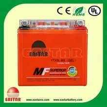 High Quality 12n5-3b motorcycle battery 12v 5ah/10hr ytx5l-bs motorcycle battery