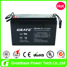 Sealed lead acid 12v 100ah UPS solar battery with UL approved