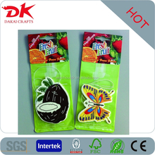 fruit and animal design hanging paper air freshener perfumed tags