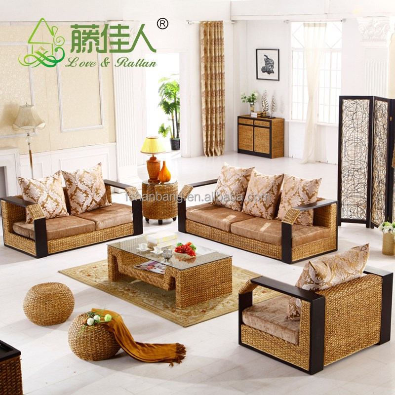 High Quality China Manufacturer Indoor Woven Rattan Seagrass Sofa Furniture