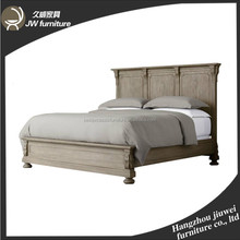 French Country Style Luxury Oak Wooden Bed Frame