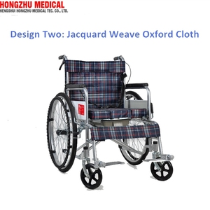 OEM Transport Folding Wheelchair Commode Chair with Wheels Travel Portable Manual Wheel Chair