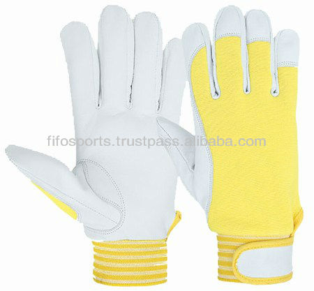 Synthetic lining Winter work glove