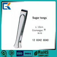 Cheap high quality stainless steel Sugar tongs for hotel buffet supplies