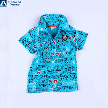 Children bright color cartoon polo shirt for kids