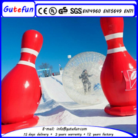 promotional inflatable human bowling in snow