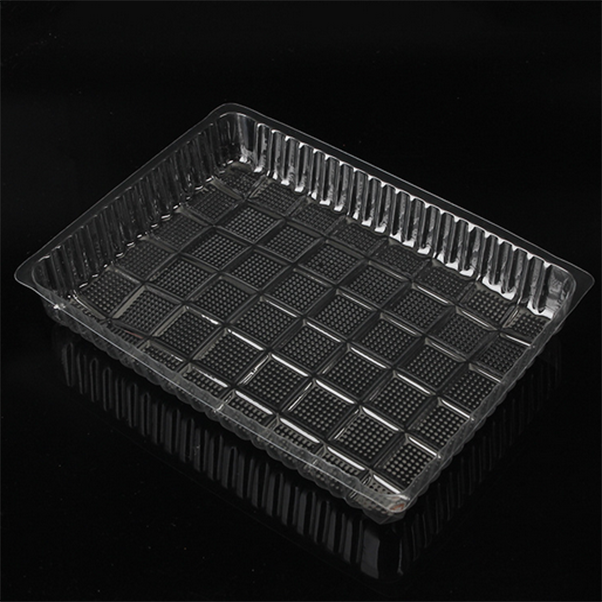 Biodegradable plastic large food container plastic packaging inner tray