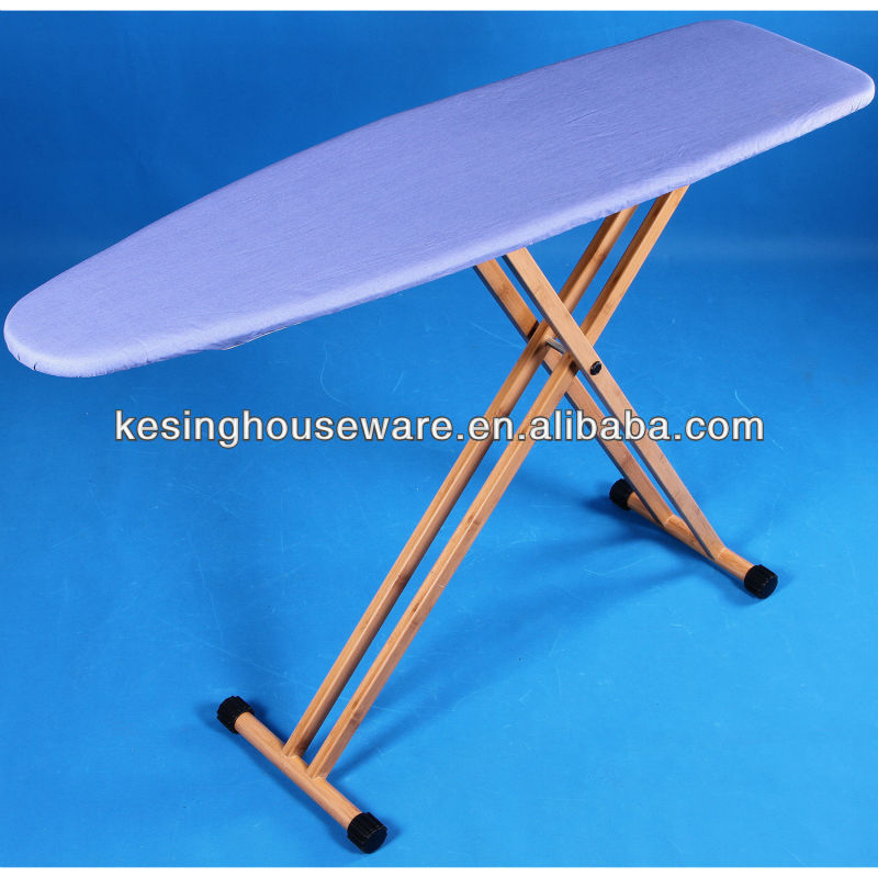 Bamboo Ironing Board with Plastic Ironing Table and 4 Legs