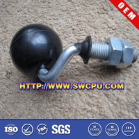 Custom colored pa nylon pe delrin plastic ball and socket joint