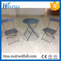 Wholesale Steel 2 Chairs 1 Table Outdoor Folding Garden Sets