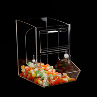 Factory price acrylic display candy box clear acrylic flowers box