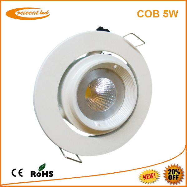 dimmable led downlight fitting 5w cob high quality led recessed downlights