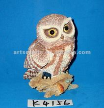 Polyresin owl statue decoration