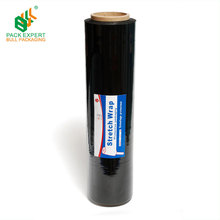 Free Sample Black Pallet Film Roll Colored Plastic Wrap
