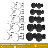 316L Surgical Stainless Steel Titanium Plated Black Round Disc Earring Studs