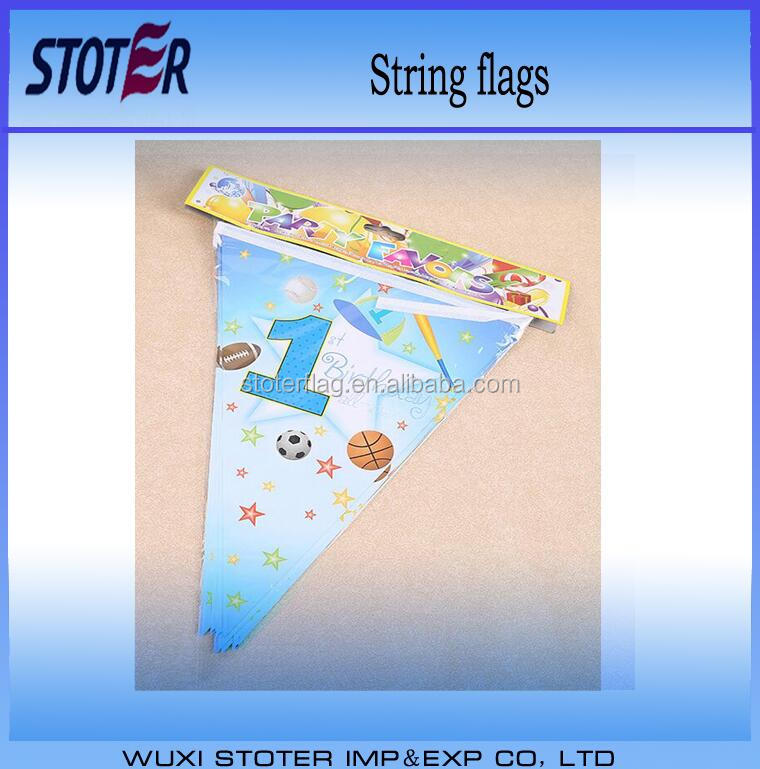 outdoor christmas holiday paper hanging bunting string flags
