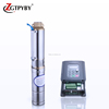 220v dc submersible deepwell solar water pump 2 hp dc solar pump with MPPT controller