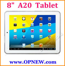 8inch A20 Dual core Tablets PC 1.52GHz 6 Colors In stock OPNEW Wholesale
