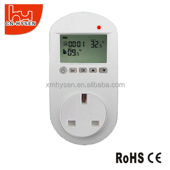UK Plug in wall heating digital room thermostat