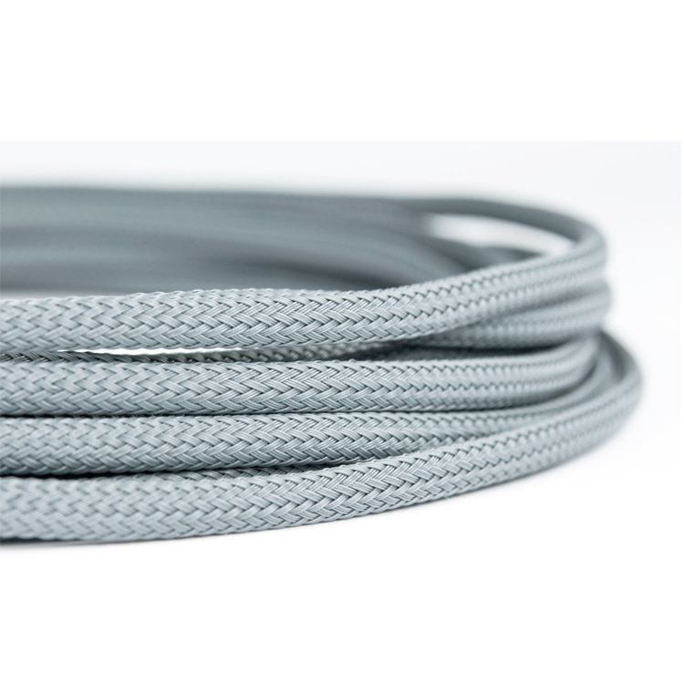4mm High Density Silver Grey Braided Expandable Sleeving
