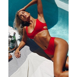 Hot Sale Women Transparent Bikini Set With Private Label Swimwear Manufacturer Production Two Piece Style
