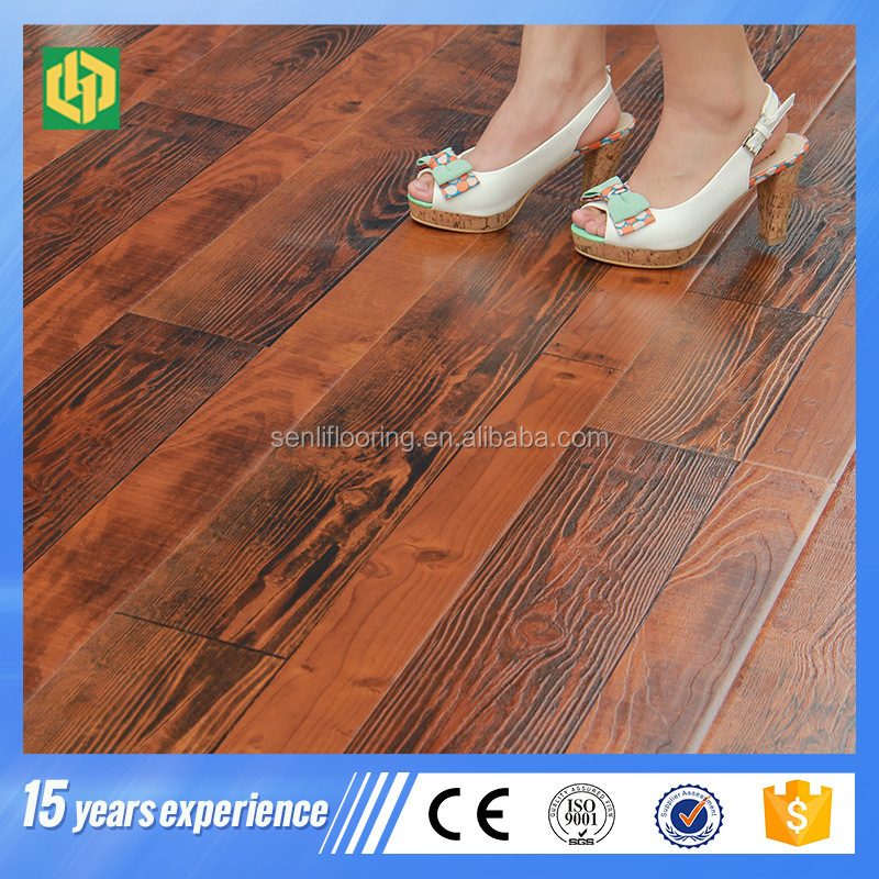 12mm AC4 Hand scratch surface decorative my floor laminate flooring