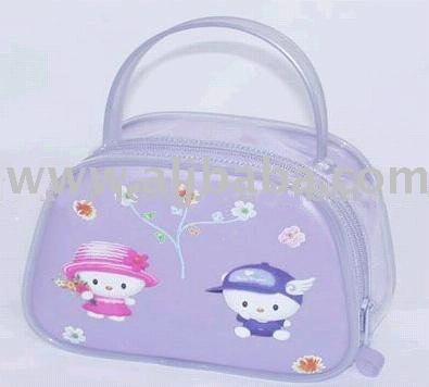 Plastic promotion bag with handle