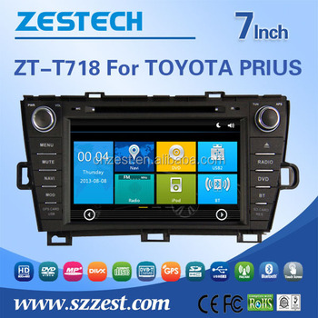 car audio radio car dvd player For Toyota PRIUS Car radio gps with gps navigation bluetooth touch sreen