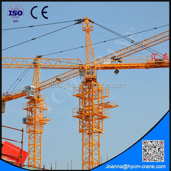 2015 high quality topless tower crane flat top tower crane flathead