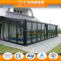 China manufacturer latest design aluminum extrusion profiles for winter gardens glass room