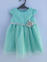 Baby silver glitter with flower party dresses(0-24M)
