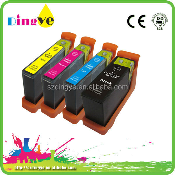 hot sale ink cartridge for LM 100xl (with chip) refill inkjet cartridge with comparative price