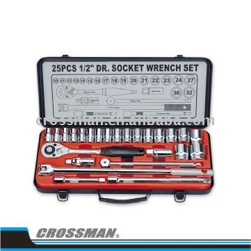 "1/2"" Drive Metric Socket Set - 25 Pcs"