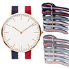 interchangeable strap watch style Mineral Glass Nylon Strap Quartz Stainless Steel Alloy Lady Watch With Factory Price