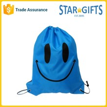 Custom Cute Drawstring Polyester Recycle Foldable Shopping Bag