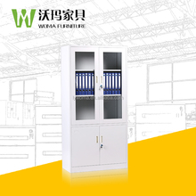 Fingerprint cabinet lock office filing cabinet colorful glass door file cabinets