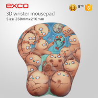 EXCO Non-Slip Custom silicone gel heating breast sexy mouse pad