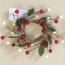 Cheap Foam Decorating Berry Christmas Napkin Wreath Ring