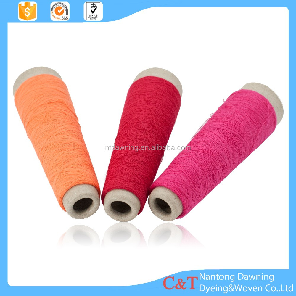 Cotton polyester ring spun yarn dyeing factory for knit fabric