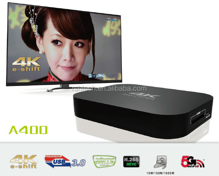 Android smart TV box with Amlogic s805 chipset , 4K Google streaming player with preloaded kodi