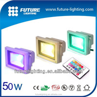 High power Epistar COB RGB Color changing TUV EMC Approval 12 volt 50W led Flood Lights